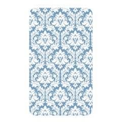 White On Light Blue Damask Memory Card Reader (Rectangular)
