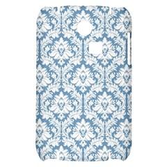 White On Light Blue Damask Samsung S3350 Hardshell Case
