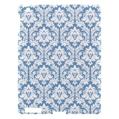 White On Light Blue Damask Apple iPad 3/4 Hardshell Case