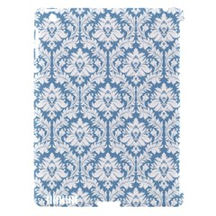 White On Light Blue Damask Apple iPad 3/4 Hardshell Case (Compatible with Smart Cover)