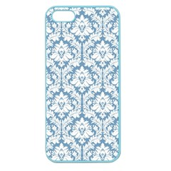 White On Light Blue Damask Apple Seamless iPhone 5 Case (Color)
