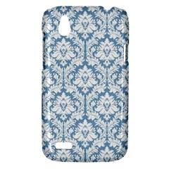 White On Light Blue Damask HTC Desire V (T328W) Hardshell Case