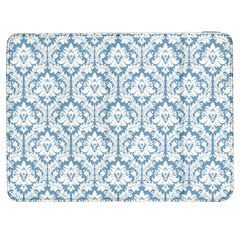 White On Light Blue Damask Samsung Galaxy Tab 7  P1000 Flip Case