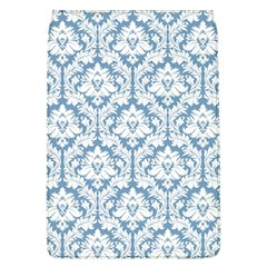 White On Light Blue Damask Removable Flap Cover (Large)