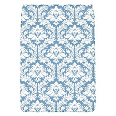 White On Light Blue Damask Removable Flap Cover (Small)