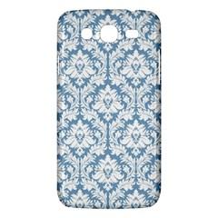 White On Light Blue Damask Samsung Galaxy Mega 5 8 I9152 Hardshell Case