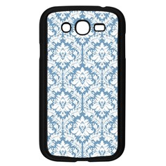 White On Light Blue Damask Samsung Galaxy Grand DUOS I9082 Case (Black)