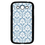 White On Light Blue Damask Samsung Galaxy Grand DUOS I9082 Case (Black) Front