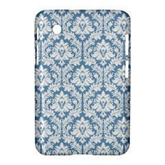 White On Light Blue Damask Samsung Galaxy Tab 2 (7 ) P3100 Hardshell Case