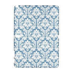 White On Light Blue Damask Samsung Galaxy Note 10.1 (P600) Hardshell Case