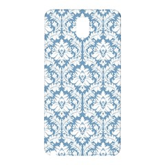 White On Light Blue Damask Samsung Galaxy Note 3 N9005 Hardshell Back Case