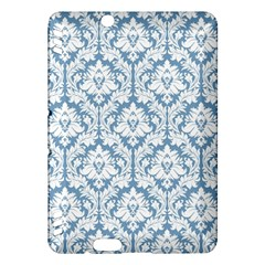 White On Light Blue Damask Kindle Fire HDX 7  Hardshell Case
