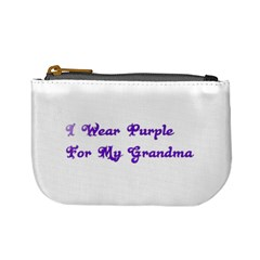 I Wear Purple For My Grandma Coin Change Purse