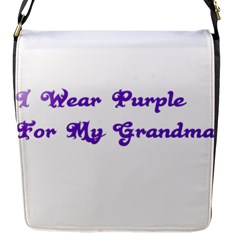 I Wear Purple For My Grandma Flap Closure Messenger Bag (Small)