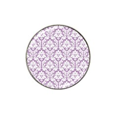 White On Lilac Damask Golf Ball Marker 4 Pack (for Hat Clip)