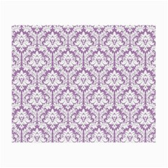 White On Lilac Damask Glasses Cloth (Small)