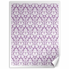 White On Lilac Damask Canvas 36  X 48  (unframed)