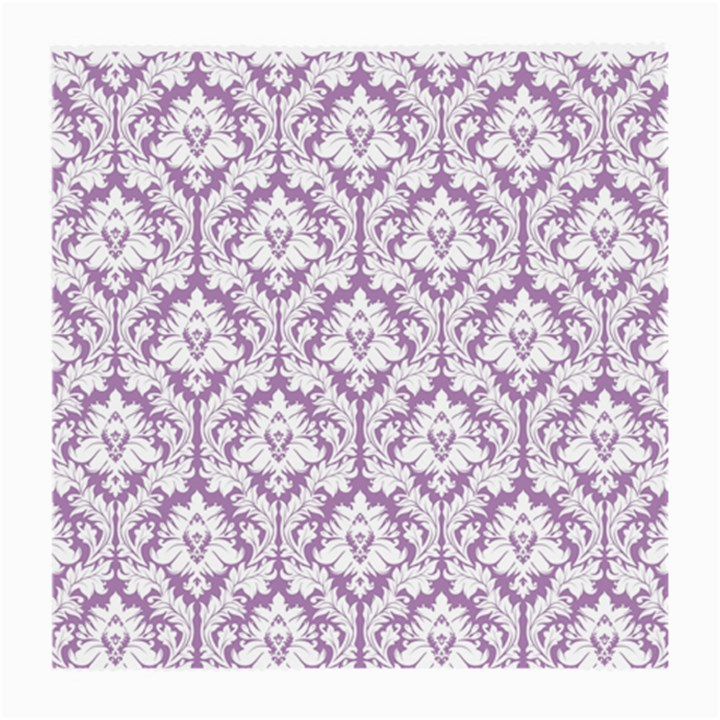 White On Lilac Damask Glasses Cloth (Medium)