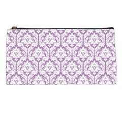 Lilac Damask Pattern Pencil Case