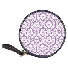 White On Lilac Damask Cd Wallet
