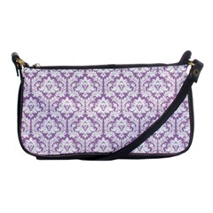 Lilac Damask Pattern Shoulder Clutch Bag