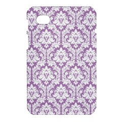 White On Lilac Damask Samsung Galaxy Tab 7  P1000 Hardshell Case