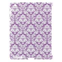 White On Lilac Damask Apple Ipad 3/4 Hardshell Case (compatible With Smart Cover)