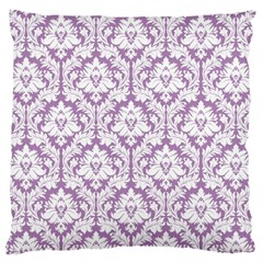 Lilac Damask Pattern Large Cushion Case (One Side)