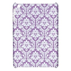 White On Lilac Damask Apple iPad Mini Hardshell Case