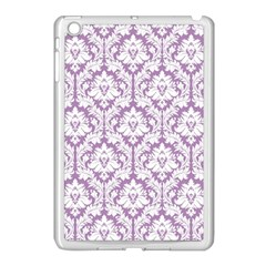 White On Lilac Damask Apple Ipad Mini Case (white)
