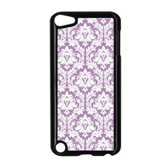 White On Lilac Damask Apple iPod Touch 5 Case (Black)