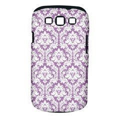 White On Lilac Damask Samsung Galaxy S Iii Classic Hardshell Case (pc+silicone)