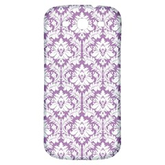 White On Lilac Damask Samsung Galaxy S3 S Iii Classic Hardshell Back Case