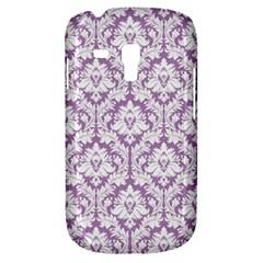White On Lilac Damask Samsung Galaxy S3 MINI I8190 Hardshell Case