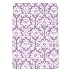 White On Lilac Damask Removable Flap Cover (Large)