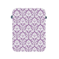 White On Lilac Damask Apple Ipad Protective Sleeve