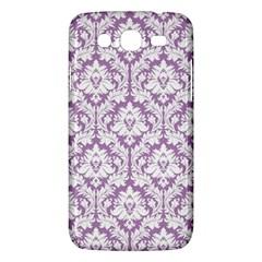 White On Lilac Damask Samsung Galaxy Mega 5 8 I9152 Hardshell Case