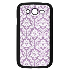 White On Lilac Damask Samsung Galaxy Grand Duos I9082 Case (black)