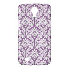 White On Lilac Damask Samsung Galaxy Mega 6.3  I9200 Hardshell Case