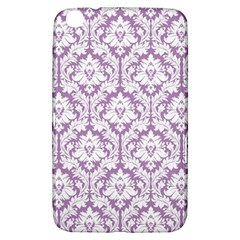 White On Lilac Damask Samsung Galaxy Tab 3 (8 ) T3100 Hardshell Case