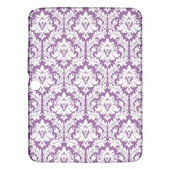 White On Lilac Damask Samsung Galaxy Tab 3 (10.1 ) P5200 Hardshell Case