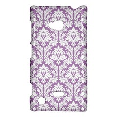 White On Lilac Damask Nokia Lumia 720 Hardshell Case