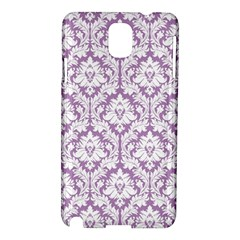 White On Lilac Damask Samsung Galaxy Note 3 N9005 Hardshell Case