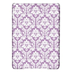 White On Lilac Damask Apple iPad Air Hardshell Case