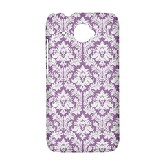 White On Lilac Damask HTC Desire 601 Hardshell Case