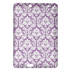 White On Lilac Damask Kindle Fire HD 7  (2nd Gen) Hardshell Case