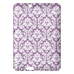 White On Lilac Damask Kindle Fire HDX 7  Hardshell Case