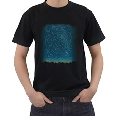 There IS somebody out there! Men s T-shirt (Black)