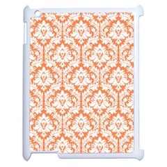 White On Orange Damask Apple Ipad 2 Case (white)