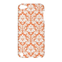 White On Orange Damask Apple iPod Touch 5 Hardshell Case